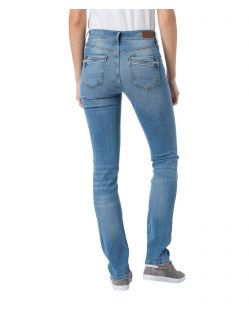 CROSS Anya - High Waisted Jeans - Light Blue - Hinten