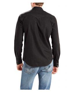 Levis Barstow - Jeans Westernhemd in reinem schwarz - Hinten