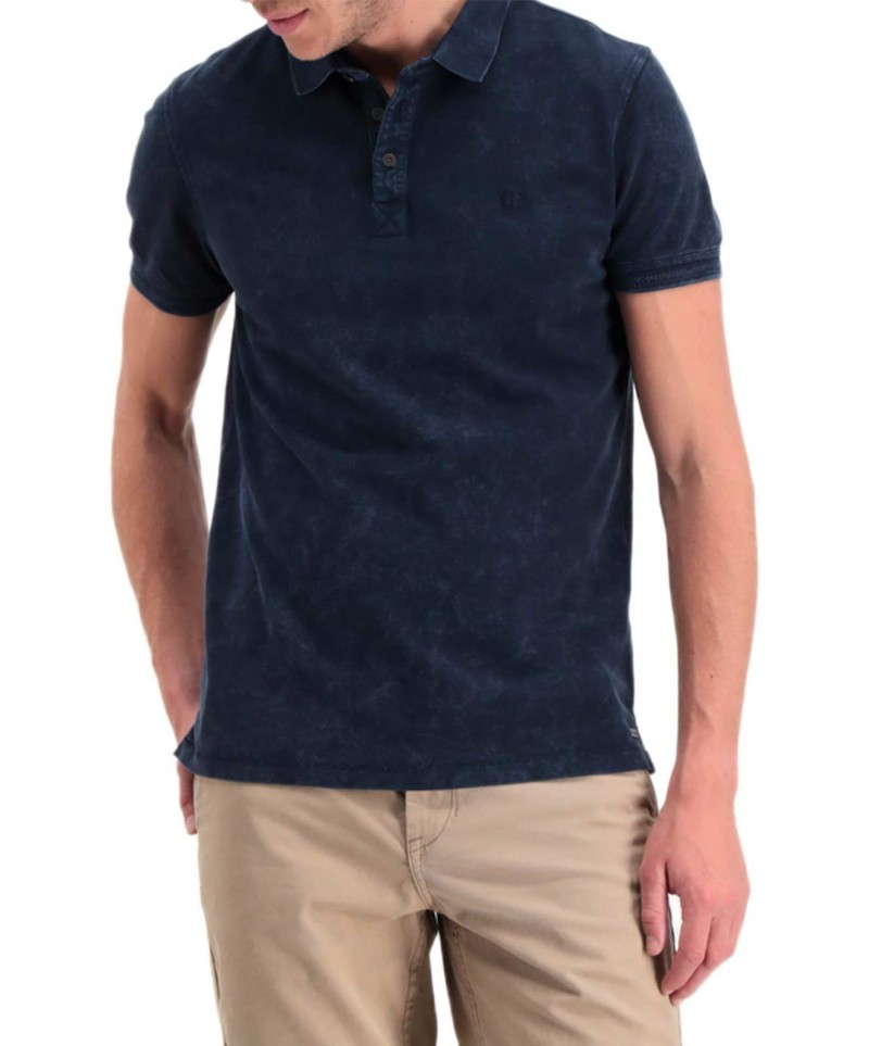 Garcia Pietro - dunkelblaues Poloshirt mit regulärem Schnitt