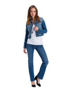 Cross Jeans Bootcut Lauren - Regular fit Jeans in Indigoblau - B02