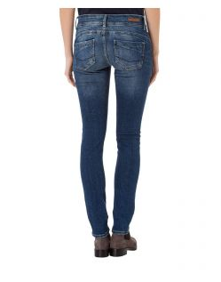 CROSS Melinda - High Waisted Jeans - Blue Used Destroyed - Hinten