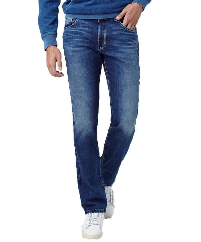 Pioneer Rando Jeans - Regular Fit - Stone Used With Buffies