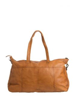 Pieces Cabby - Leder Weekender in Cognac - Hinten