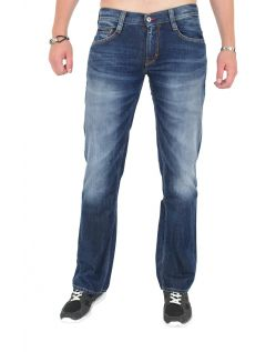 MUSTANG OREGON STRAIGHT Jeans - Slim Fit - Dark Rinse Used