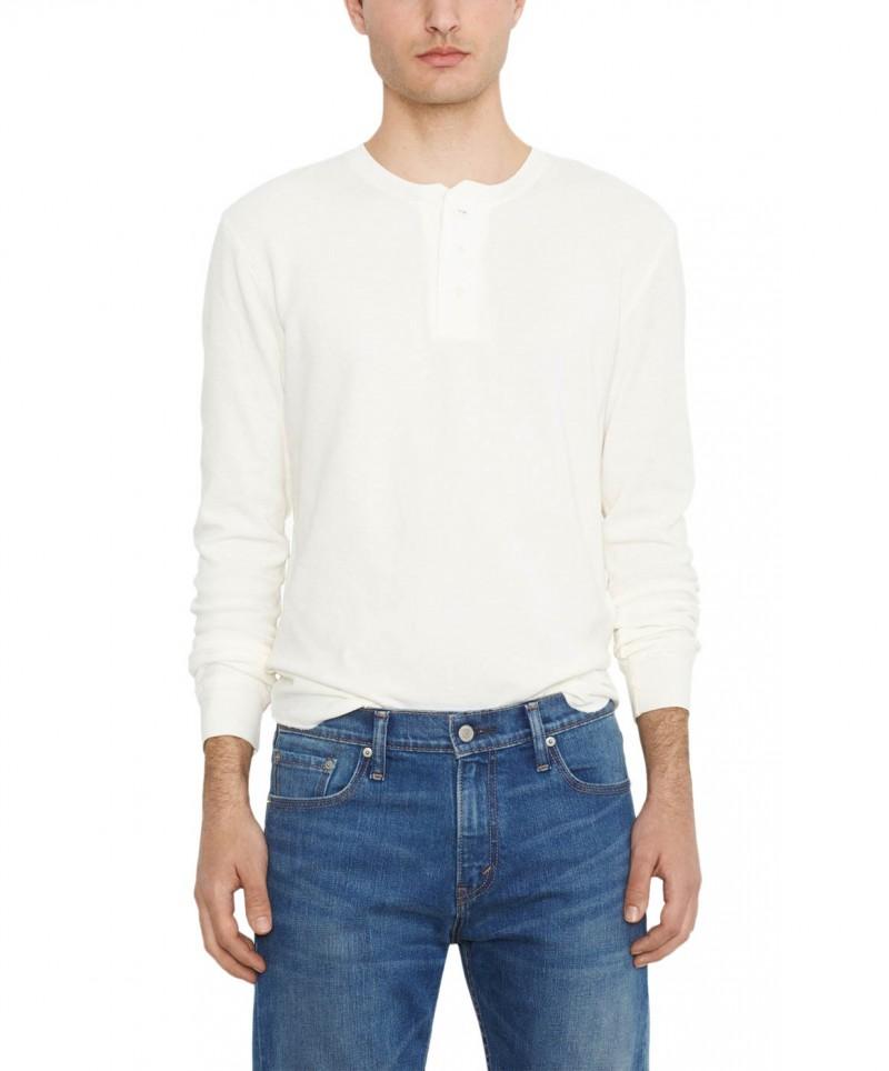 Levis Shirt Henley - Slim Fit - White Smoke