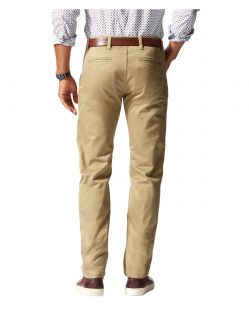 DOCKERS ALPHA - Slim Tarped - New British Khaki - Hinten