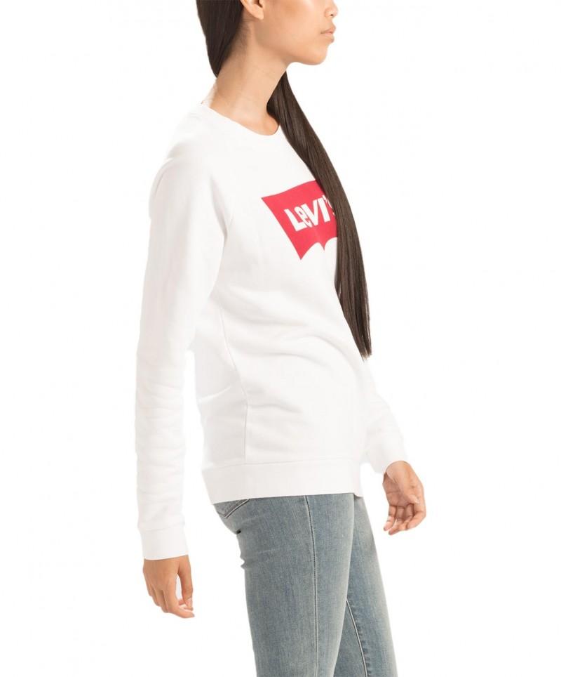 LEVI'S - Pullover mit Rundhalsausschnitt und Grafikprint - Weiss