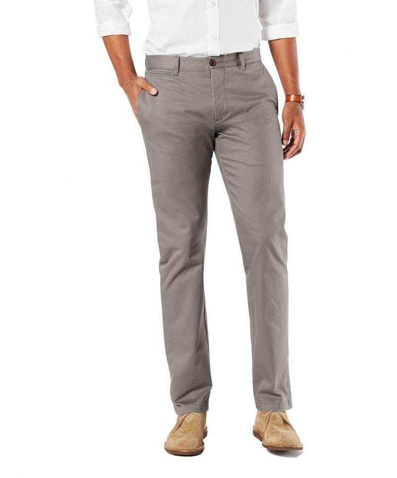 DOCKERS MARINA - Slim Tapered - Dark Pebble