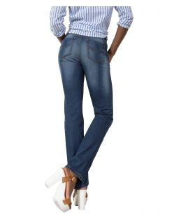 HIS COLETTA Jeans - Straight Fit - Medium Blue - Hinten