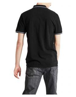 Levi's Poloshirt Modern Logo in Schwarz f02
