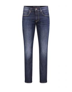 Mac Arne Pipe - enge Stretch-Jeans in dark blue Waschung
