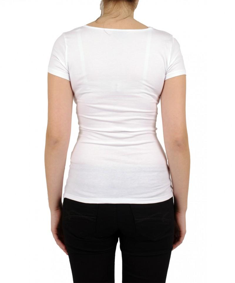 VERO MODA T-Shirt - Soft U-NECK - Weiss