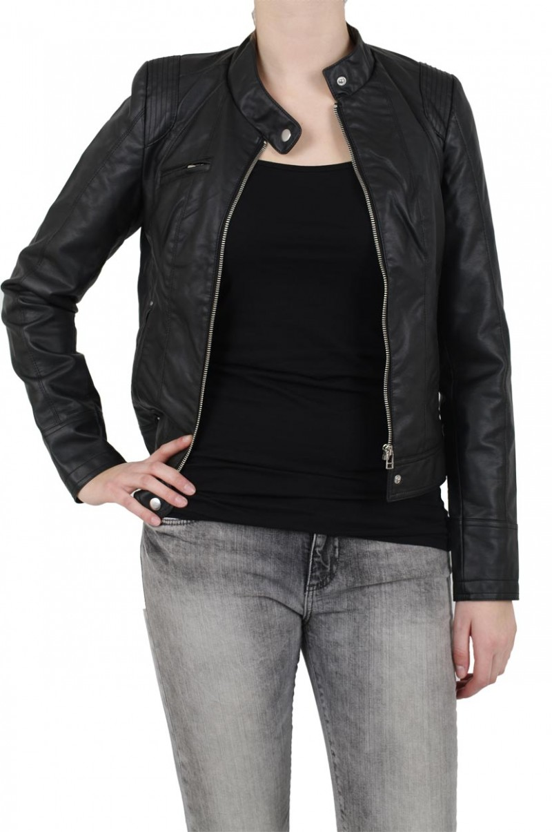Vero Moda Jacke - Dawn Short PU - Black