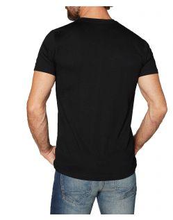 Colorado Don - schwarzes T-Shirt im Doppelpack mit V-Neck - Hinten