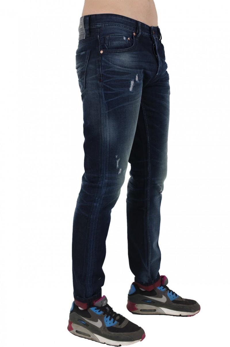 Fuga Adam Jeans - Straight Leg - Blue Red v