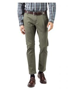 DOCKERS Washed Khaki - Skinny Tapered - Dunkelgrün