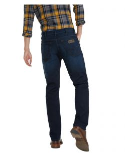 Wrangler Texas Stretch Jeans in coolem Dunkelblau f02