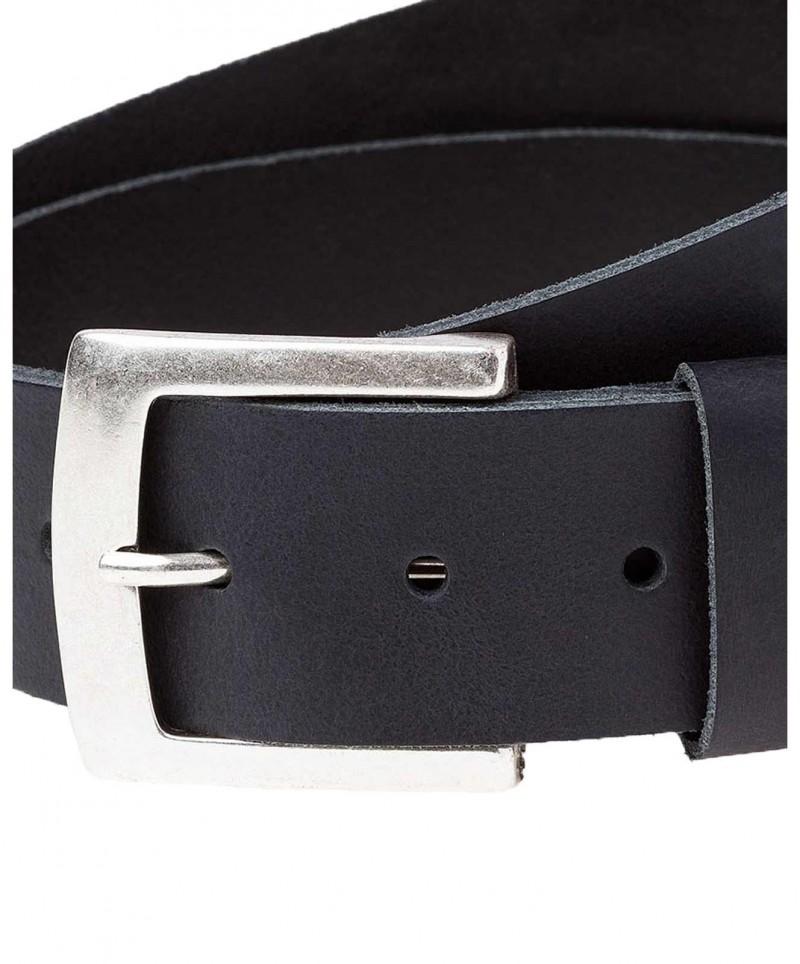 Cross Jeans Gürtel - eckige Metalschließe - Schwarz
