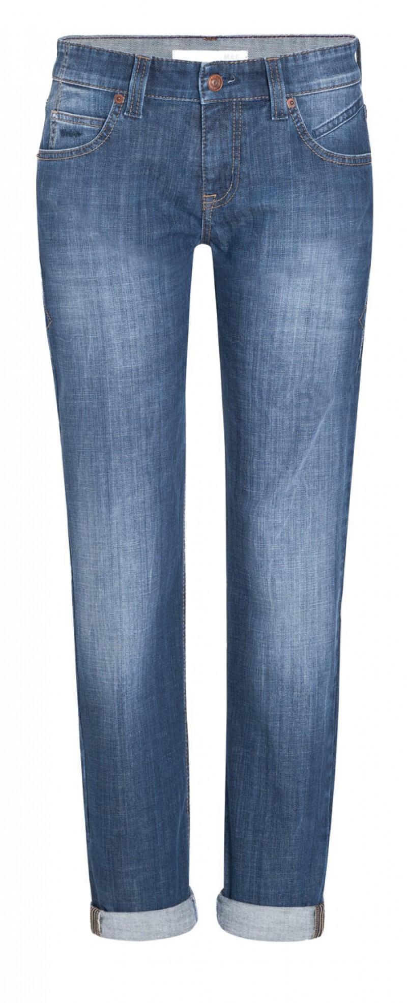Mac Boyfriend Jeans - Casual Fit -  Mid Blue Wash