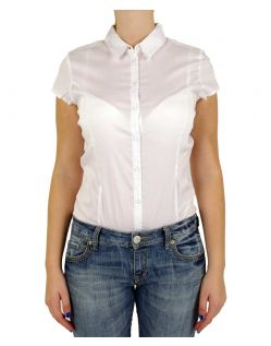 Vero Moda COUSIN - Bodybluse kurz - Weiss
