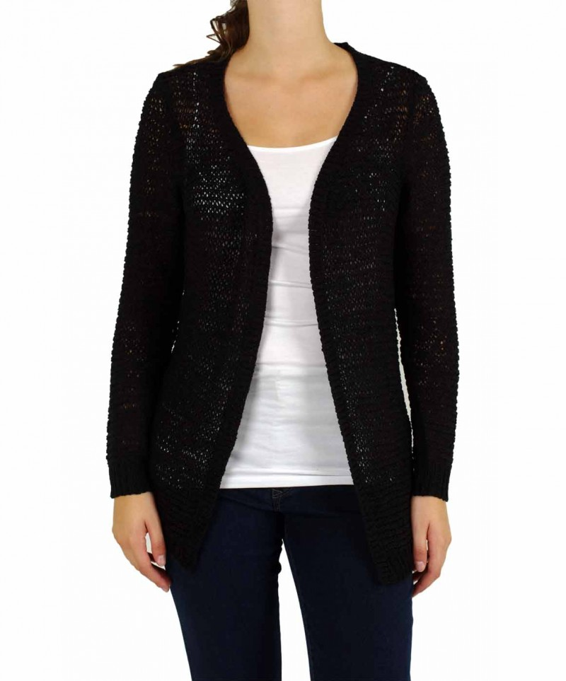 Vero Moda - VERLA LONG CARDIGAN - Black
