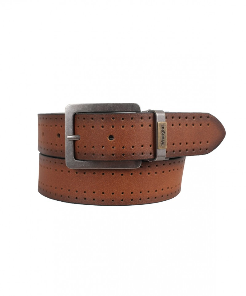 Wrangler Herrengürtel New Reversible Belt in Cognac
