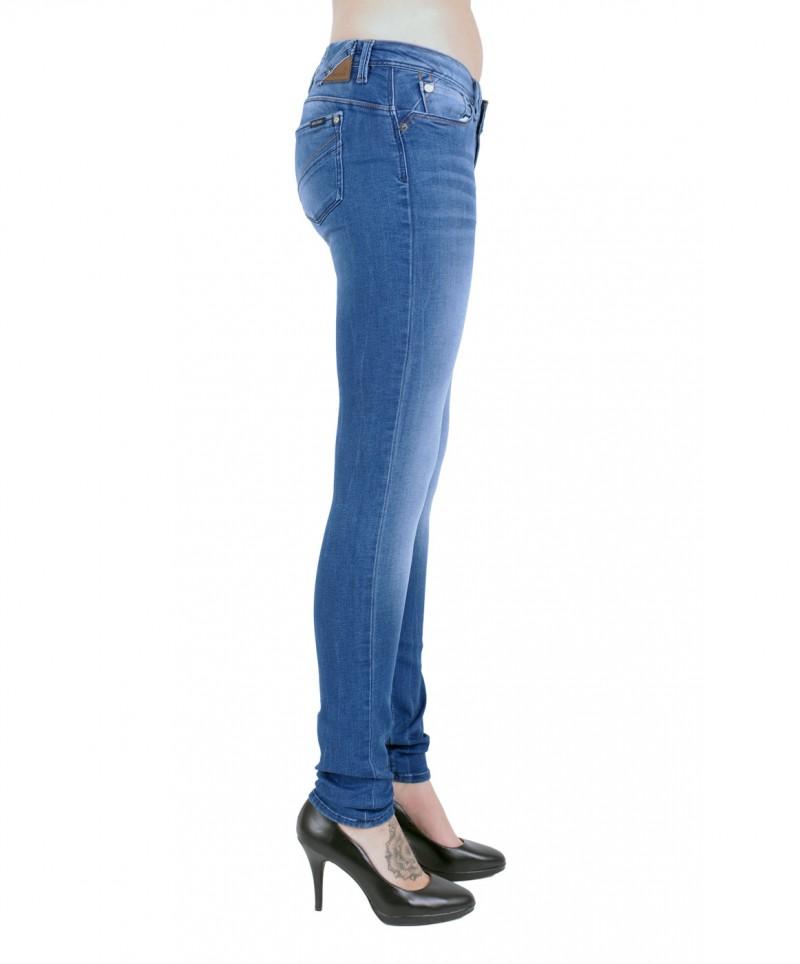GARCIA RIVA Jeans - Super Slim Leg - Slim Fit - Royal Blue Used