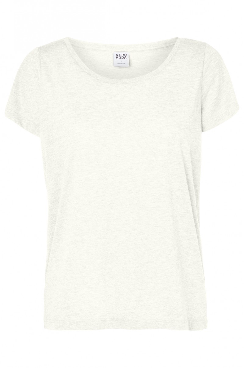 Vero Moda T-Shirt - Molly ss Top - Bright White