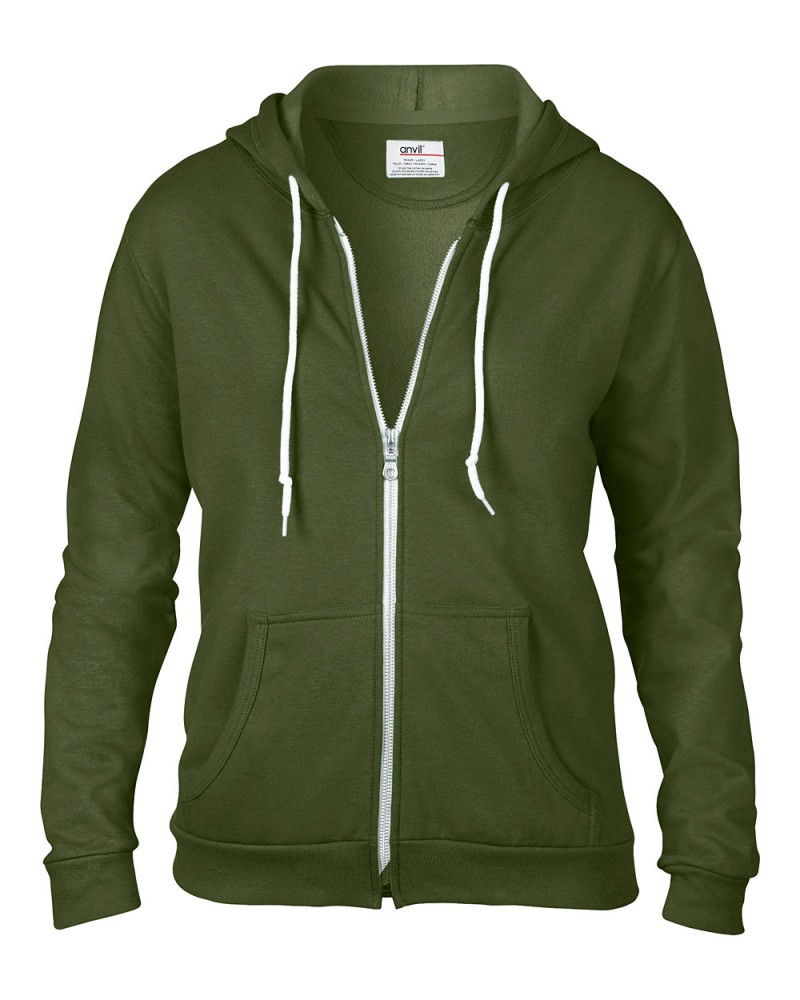Anvil Sweatshirt - Kaputzenjacke - City Green