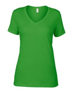 Anvil T-Shirts - Sheer V-Ausschnitt  - Green Apple v