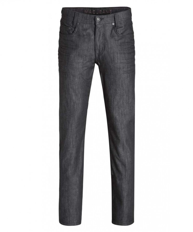 Mac Arne Jeans - Straight Leg - Rinsed Black