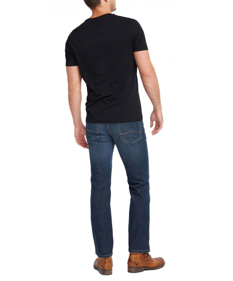 Mustang Tramper Stretch - Tapered Jeans in Azurblau