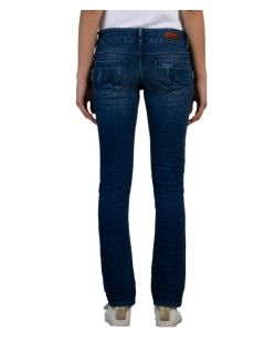 LTB Molly - Slim Fit Jeans im blauem Used Look - Hinten