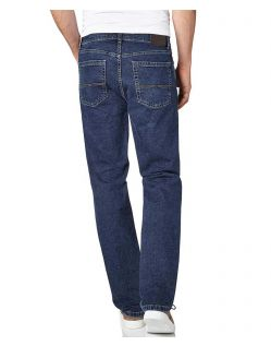 Pioneer Rando - Straight Jeans in azurblauer Waschung - Hinten