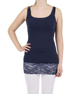 Vero Moda - Tank Top Long - Black Iris