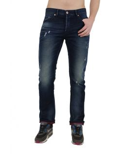 Fuga Adam Jeans - Straight Leg - Blue Red