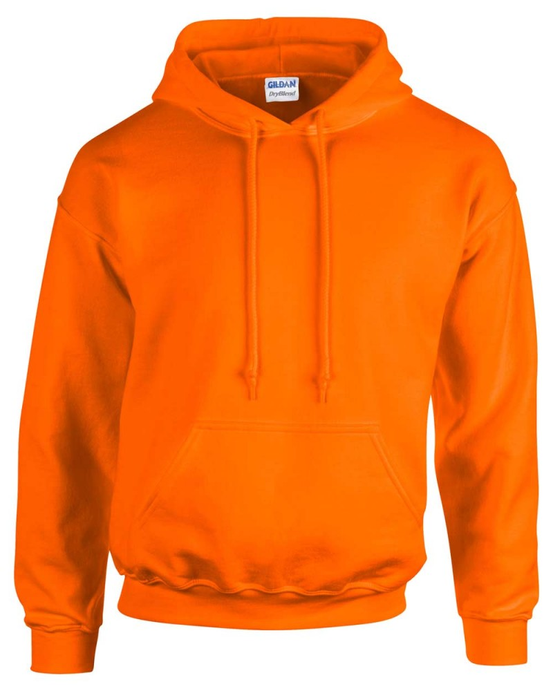 Gildan Kapuzensweatshirt - Safety Orange
