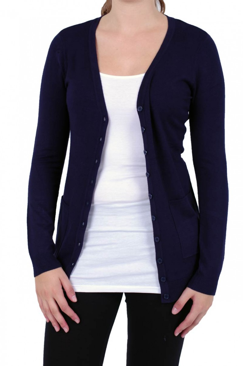 Vero Moda Glory New - Strickjacke Long - Dark Navy v