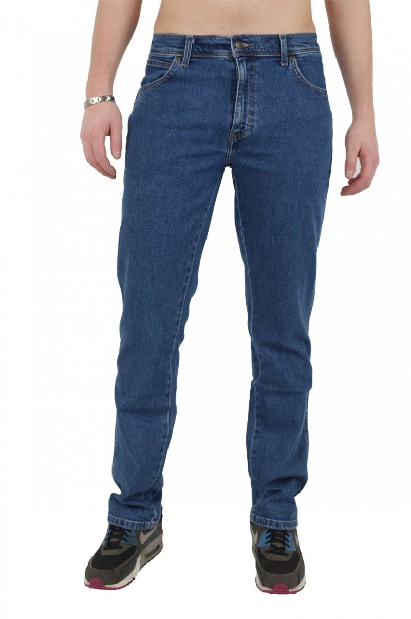 Wrangler Regular Fit - Stretch Jeans - Stonewash v
