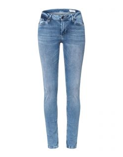 Cross Alan - High Waisted Skinny Jeans in hellem Used-Look