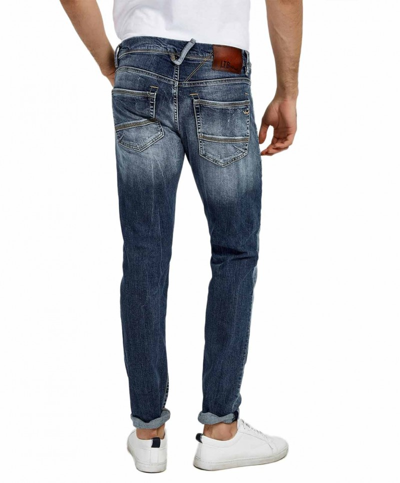 LTB SERVANDO Jeans - Tapered Leg - Licorice Black Wash
