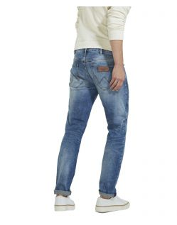 WRANGLER LARSTON - Slim Tapered - Blue Mick - hinten