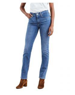 Levi's 724 - Gerade Jeans mit hohem Bund in Stone-Optik