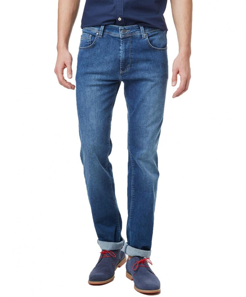 Pioneer Jeans Rando - Regular Fit - Megaflex Stretch - Stone Used