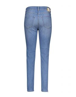 MAC Angela Zip - Slim Fit Jeans - Light Blue Wash - Hinten