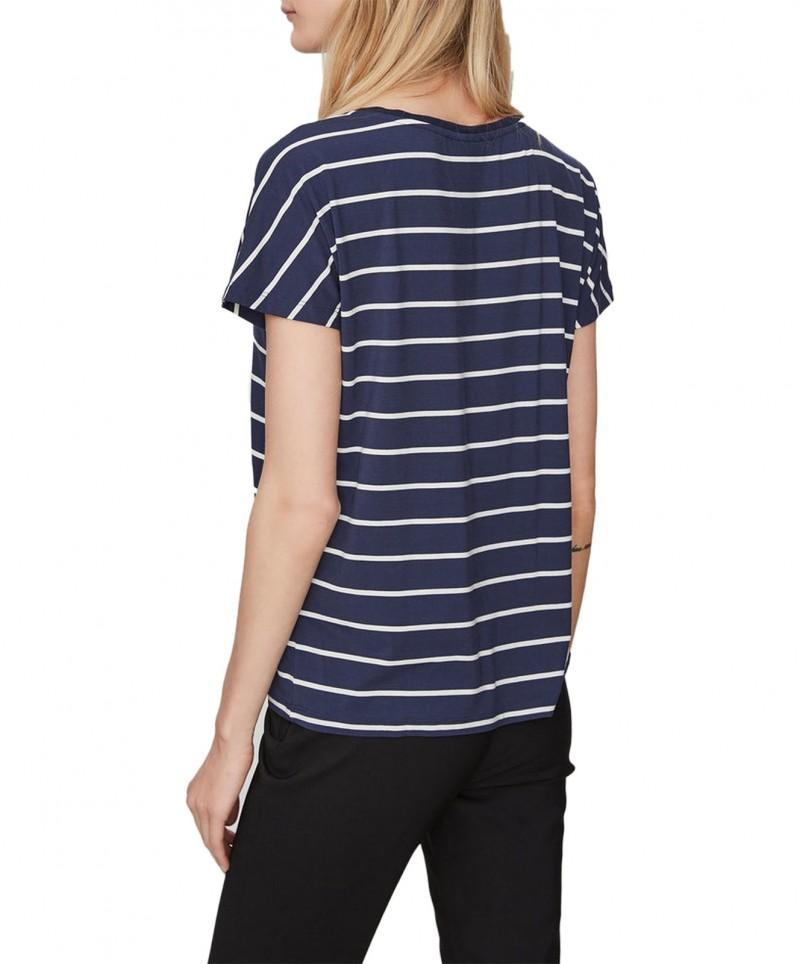 Vero Moda BOCA SS Top - Bluse - 100% Viskose - Tidepool