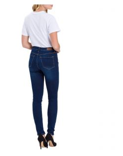 Cross Natalia - dunkelblaue High Waisted Jeans - Hinten