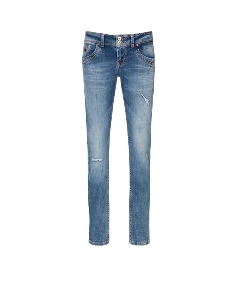 mittelblaue Ankle Jeans im Slim Fit Form - LTB Senta
