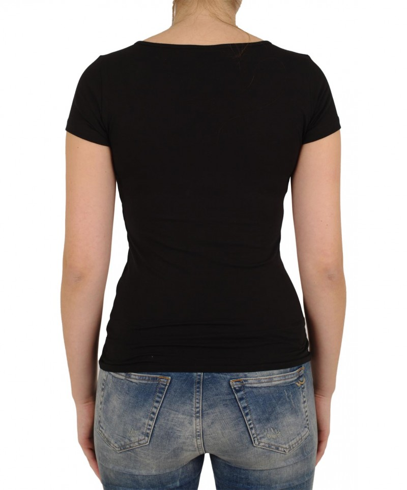 VERO MODA T-Shirt - Soft U-NECK - Schwarz