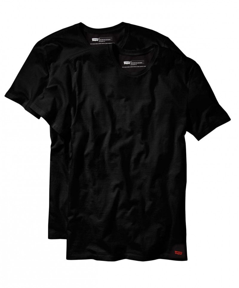 levis t shirt 2 pack crew tee slim fit schwarz f r. Black Bedroom Furniture Sets. Home Design Ideas